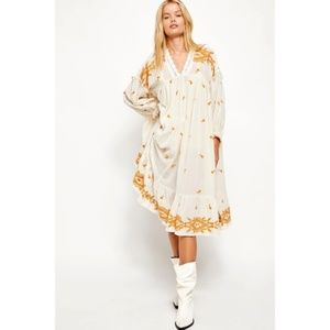Free People lavender fields embroidered dress